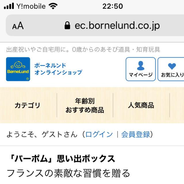 BorneLund(ボーネルンド)のボーネルンド メモリアルボックス キッズ/ベビー/マタニティのメモリアル/セレモニー用品(アルバム)の商品写真