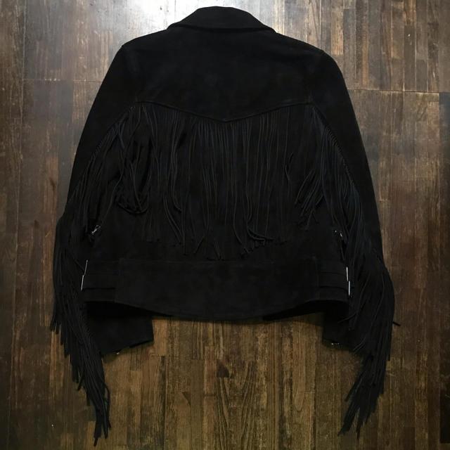 UNDERCOVER(アンダーカバー)のblackmeans スエードフリンジライダース メンズのジャケット/アウター(ライダースジャケット)の商品写真