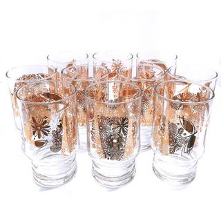 トウヨウササキガラス(東洋佐々木ガラス)の昭和レトロ グラス 10客セット(グラス/カップ)