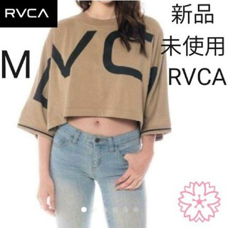 ルーカ(RVCA)の★ RVCA Mサイズ ロンT レディース クロップド丈 ショート丈(Tシャツ(長袖/七分))