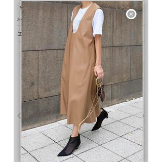 ドゥーズィエムクラス(DEUXIEME CLASSE)のmachatt エコレザー ワンピース スカート 新品未使用 chesty (ひざ丈ワンピース)