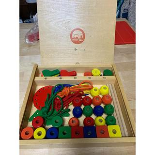 BorneLund - withマム するするしゅっしゅっ とおしてあそぼう! 知育玩具 木製 つみき