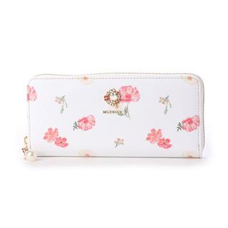ミッシュマッシュ(MISCH MASCH)の新品 デイジー ラウンドファスナー 花柄 レッド(財布)