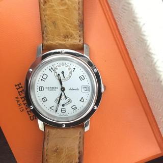 エルメス(Hermes)のエルメス クリッパー GMT パワーリザーブ 自動巻 白文字盤 CL5.710(腕時計(アナログ))
