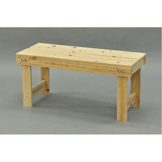 日本製 ひのき縁台/ベンチ椅子 【幅90cm】 木製 国産ヒノキ