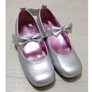 マザウェイズ(motherways)のマザウェイズ フォーマルシューズ 靴 シルバー リボン セレモニー 23cm(フォーマルシューズ)