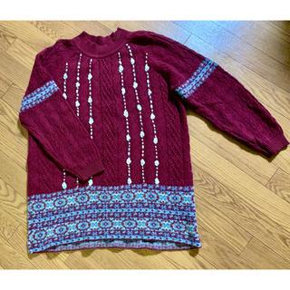 アズノゥアズオオラカ(AS KNOW AS olaca)のアズノウアズ オオラカ セーター パープル 美品(ニット/セーター)