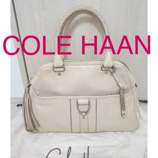 コールハーン(Cole Haan)のコールハーン✨Cole Haan✨ショルダーバッグ✨レザー✨オフホワイト(ハンドバッグ)
