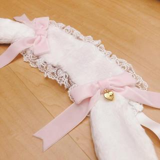 アンジェリックプリティー(Angelic Pretty)のアンジェリックプリティ ロップイヤーBunny ヘッドドレス シロ×ピンク(ヘアバンド)