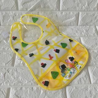 コンビ(combi)のスタイ バーバパパ イエロー ポケット付き エプロン 離乳食 赤ちゃん(お食事エプロン)