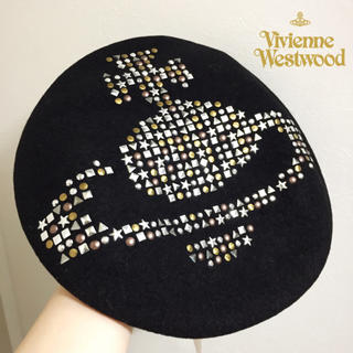 Vivienne Westwood - 入手困難 希少新品 ヴィヴィアンウエストウッド スタッズ付き ベレー帽 黒