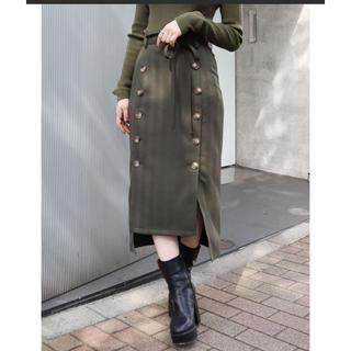 MURUA - ムルーア MURUA  ボタンスリットIラインスカート