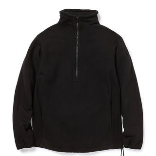 nonnative - nonnative CYCLIST HALF ZIP COTTON SWEAT