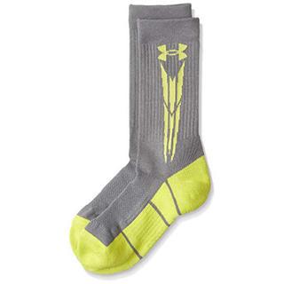 アンダーアーマー(UNDER ARMOUR)の50%オフ アンダーアーマー SM ミドル ソックス 靴下 グレーイエロー(ソックス)