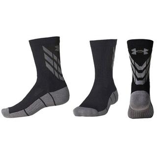 アンダーアーマー(UNDER ARMOUR)の50%オフ アンダーアーマー SM 23 25 ソックス 靴下 ブラック グレー(ソックス)