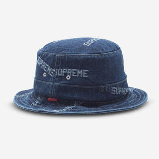 Supreme - 19ss Supreme Logo Denim Crusher Blue