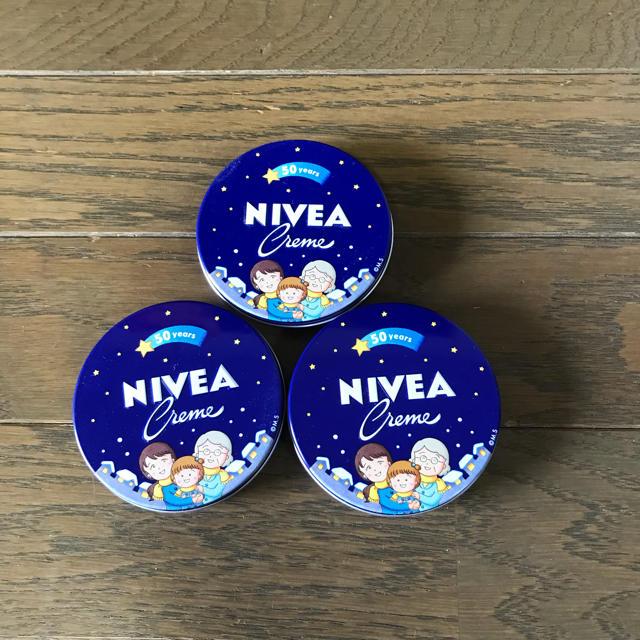ニベア(ニベア)のニベア 小缶3個セット さくらももこ コスメ/美容のボディケア(ハンドクリーム)の商品写真