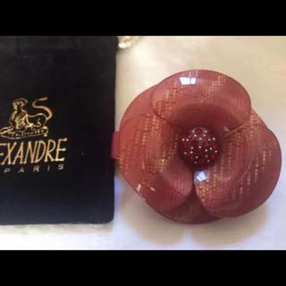 アレクサンドルドゥパリ(Alexandre de Paris)の新品 アレクサンドルドゥパリ カメリア スワロ バレッタ 赤系 レア(バレッタ/ヘアクリップ)