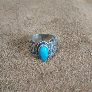 Indian - インディアンジュエリー ナバホ族 ターコイズ シルバーリング 指輪 11号