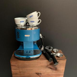 デロンギ(DeLonghi)のデロンギ アイコナ エスプレッソ・カプチーノメーカー アズーロブルー(コーヒーメーカー)