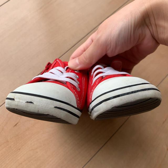 CONVERSE(コンバース)のコンバース 赤 13.5㎝ キッズ/ベビー/マタニティのベビー靴/シューズ(~14cm)(スニーカー)の商品写真