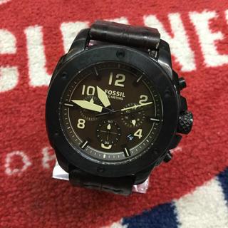 フォッシル(FOSSIL)のFOSSIL フォッシル 腕時計 クロノグラフ クロコ型押し(腕時計(アナログ))