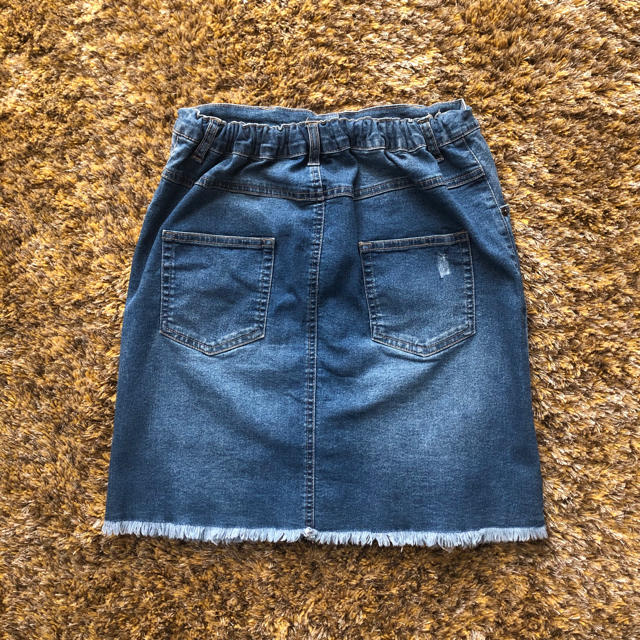 ikka(イッカ)のikka デニムスカート ☆150 キッズ/ベビー/マタニティのキッズ服女の子用(90cm~)(スカート)の商品写真