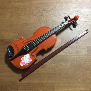 ハローキティ(ハローキティ)のPILOT  ハローキティ  ひけちゃうバイオリン  楽器おもちゃ(楽器のおもちゃ)