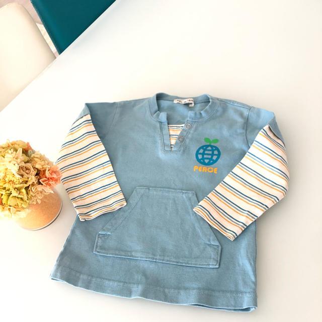 3can4on(サンカンシオン)の3can4on ロンT 90 キッズ/ベビー/マタニティのキッズ服男の子用(90cm~)(Tシャツ/カットソー)の商品写真