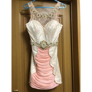 ジュエルズ(JEWELS)のミルキーオレンジ ビジューが美しいミニドレス(ナイトドレス)