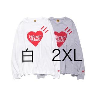 HUMAN MADE × Girls Don't Cry ロンT 白 2XL(Tシャツ/カットソー(七分/長袖))