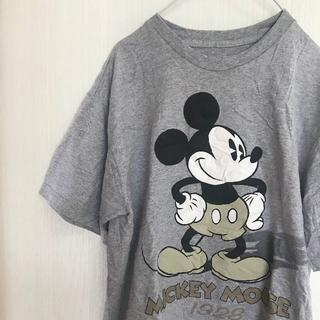 Disney - アメリカ古着!Tシャツ L Disney ミッキー グレー ビッグサイズ 半袖