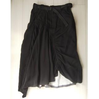 ゴム(gomme)のgommeのベルト付きスカート (ロングスカート)