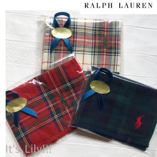 Ralph Lauren - 新作 秋冬モデル 国内百貨店 デザイン ラルフローレン ハンカチ 3枚