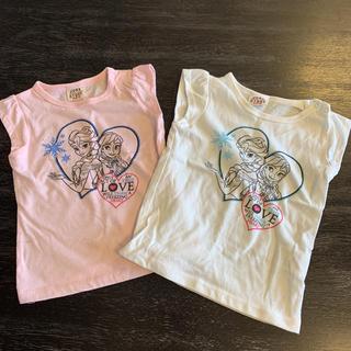 JUNK STORE - ジャンクストア95サイズ☆アナ雪フレンチスリーブTシャツ2枚セット双子コーデ