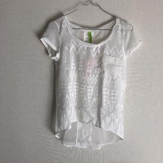 ベルシュカ(Bershka)の【2/25まで】ベルシュカ 新品 エスニック シフォン Tシャツ(Tシャツ(半袖/袖なし))