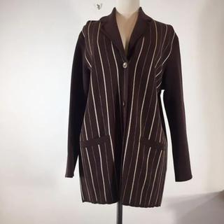 クリスチャンディオール(Christian Dior)のクリスチャンディオール ウールジャケット カーディガン ブラウン Mサイズ(カーディガン)