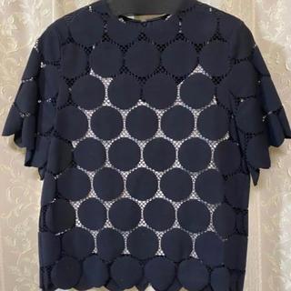 ルシェルブルー(LE CIEL BLEU)の 新品 ルシェルブルー レーストップス(カットソー(半袖/袖なし))