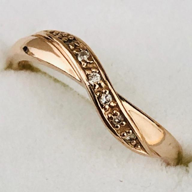 4℃(ヨンドシー)の4℃ K18PGウェーブデザインリング レディースのアクセサリー(リング(指輪))の商品写真