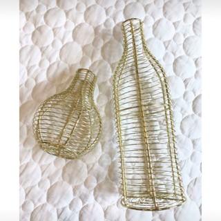 ザラホーム(ZARA HOME)の【LUCY様専用】瓶型ワイヤーフラワーベース(花瓶)