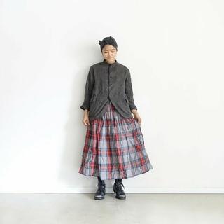 ネストローブ(nest Robe)のichi Antiquités|Linen Tartan Check Skirt(ロングスカート)