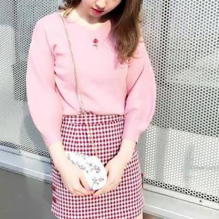 dazzlin - ヴィンテージローズ刺繍ニットプルオーバー