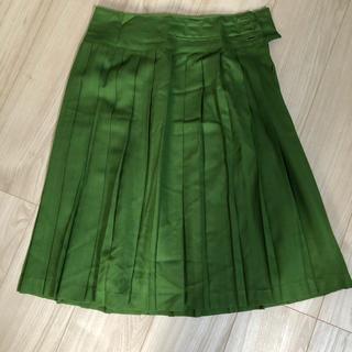 ★Nîmes グリーン プリーツスカート arcatere (ロングスカート)
