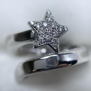 STAR JEWELRY - star jewelry k18wg ダイヤモンド スター リング