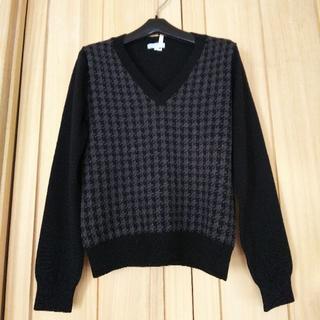 スーツカンパニー(THE SUIT COMPANY)のブラック系  千鳥格子 THE SUIT COMPANY セーター(ニット/セーター)