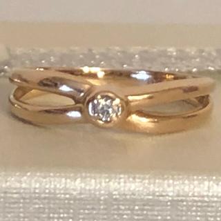k18 ダイヤモンドリング ピンキーリング お値下げ(リング(指輪))
