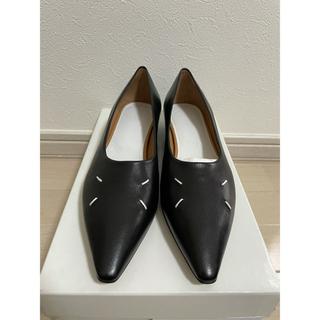 マルタンマルジェラ(Maison Martin Margiela)の正規未使用品 maison margiela ポインテッド レザー ローファー(ローファー/革靴)