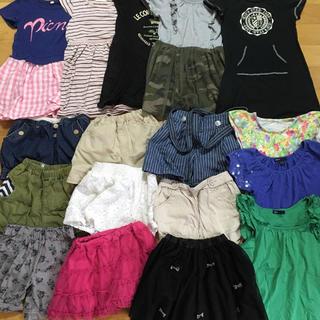 GU - 女の子 夏物 120 まとめ売り ★ 17枚セット売り 半袖 ホットパンツ