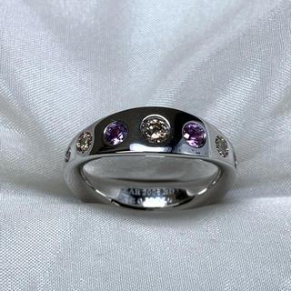 柏圭 ブラウンダイヤモンド サファイア リング(リング(指輪))