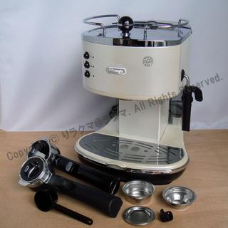 デロンギ(DeLonghi)のうさぎ様 デロンギ エスプレッソ・カプチーノメーカーECO310W MJD350(エスプレッソマシン)